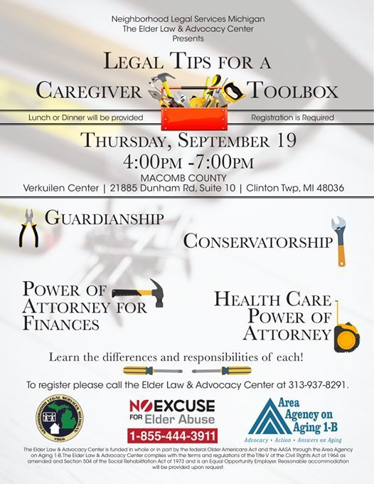 Legal Tips For A Caregiver Toolbox-Clinton Township