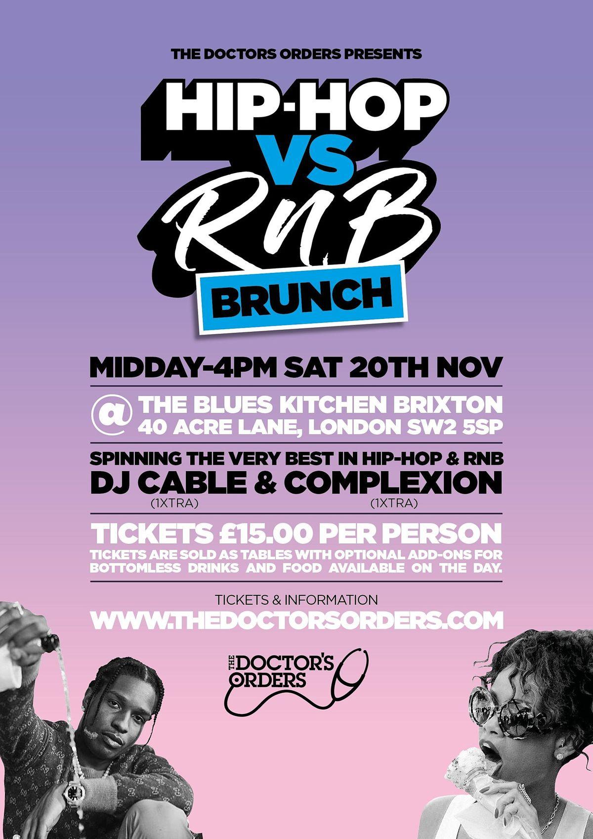 Hip-Hop vs RnB Brunch, 20 November | Event in London | AllEvents.in