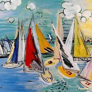 Regatta At Deauville by Roaul Dufy