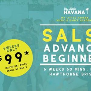 Salsa Advanced Beginners - 6 Weeks - Starts March 5