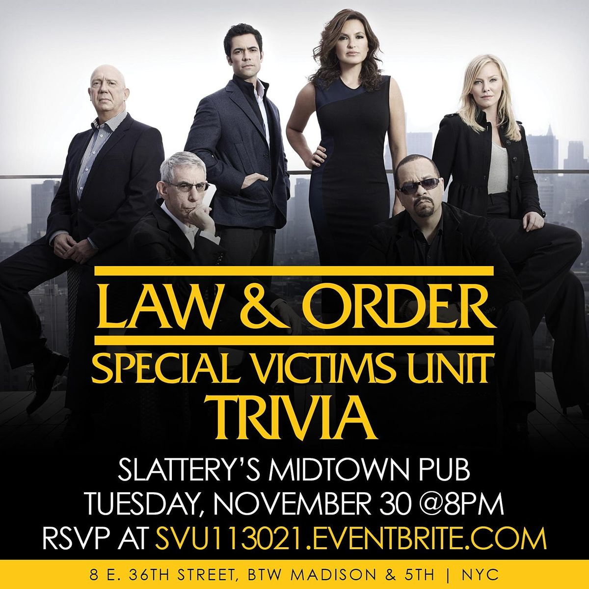 Law & Order: SVU Trivia, 30 November | Event in New York | AllEvents.in