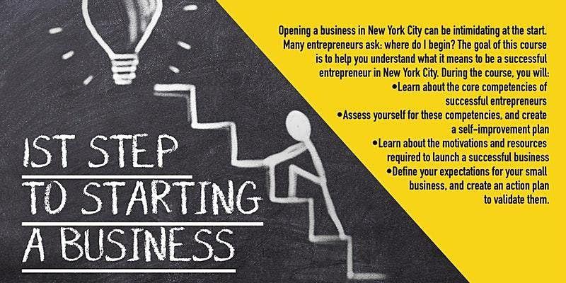 Webinar  First Steps To Starting A Business, Upper Manhattan, 10/28/2021, 28 October | Online Event | AllEvents.in