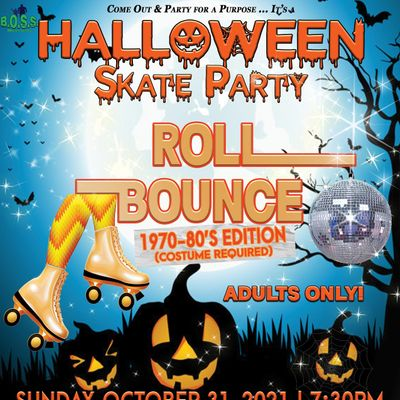 Roll Bounce Halloween Skate Party (1970s-80s Edition)