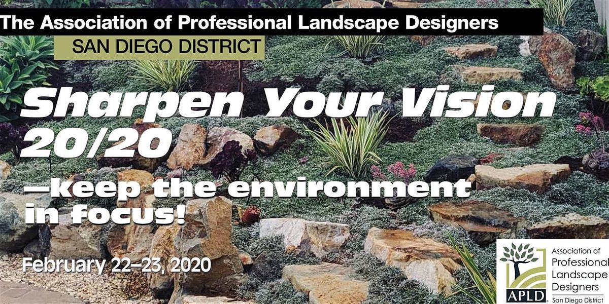 SAVE THE DATES Sharpen Your Vision 2020keep the environment in focus