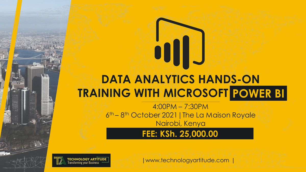 Data Analytics with Microsoft Power BI Hands-on Training, 6 October   Event in Nairobi   AllEvents.in