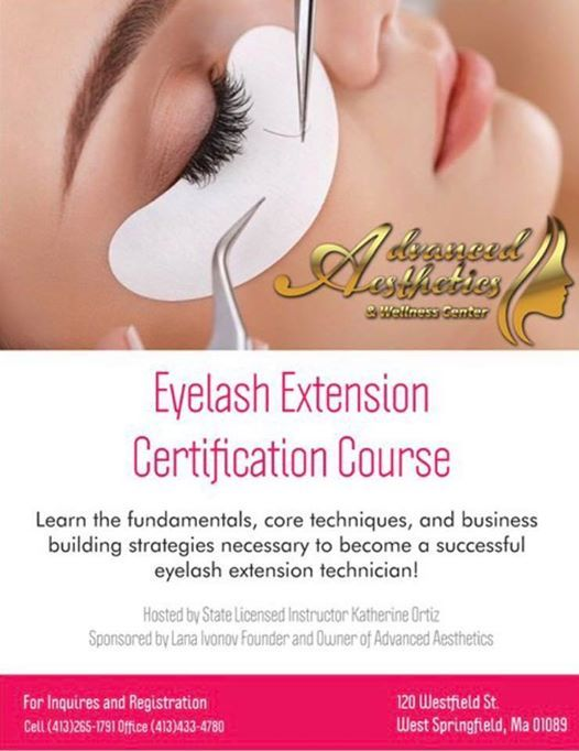 Eyelash Extension Certification Course At Advanced