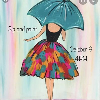 Adult Sip and Paint Party.