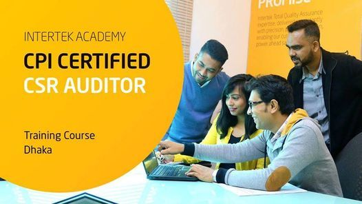CPI Certified CSR Auditor Course – Face to Face Session, 8 December | Event in Dhaka | AllEvents.in