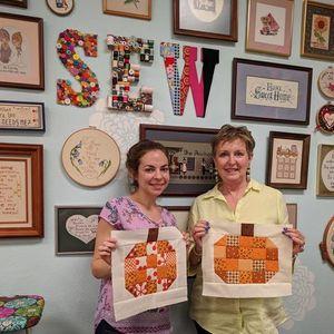 ONLINE Sew Alongs Pumpkin Quilt Block