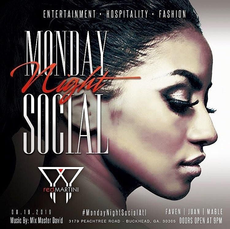 Monday Night Social @ Red Martini/Ladies in Free B4 12am/SOGA Ent/9 | Event in Atlanta | AllEvents.in