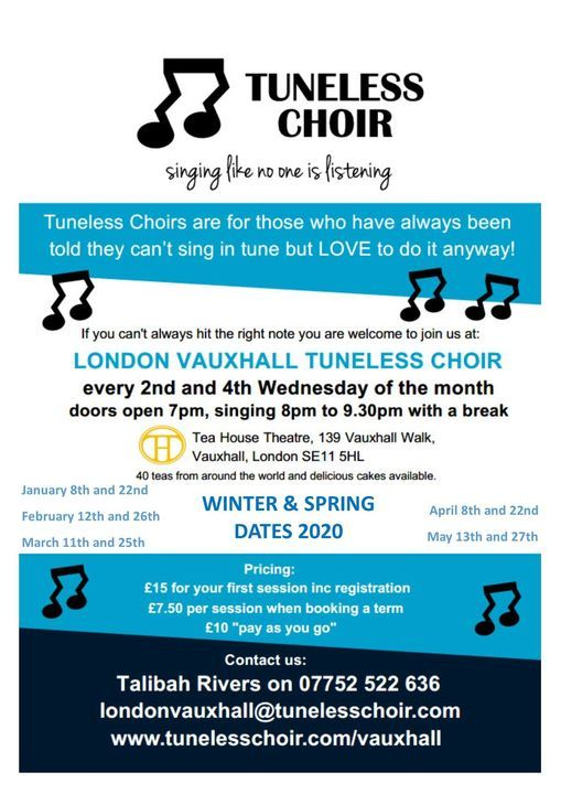 London Vauxhall Tuneless Choir