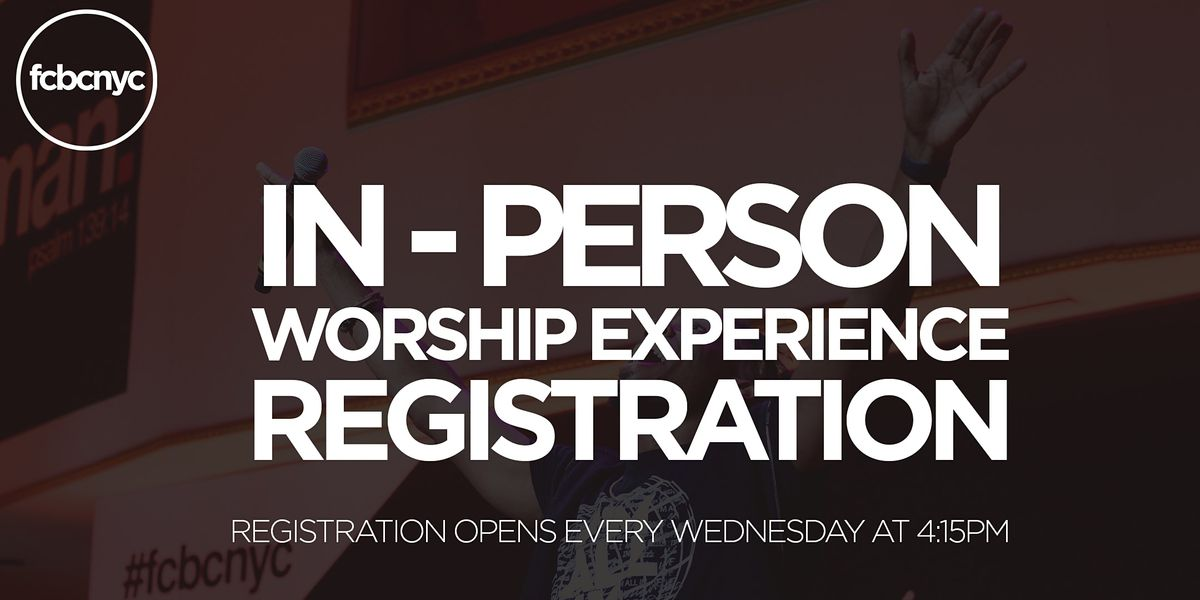 FCBC In-Person Worship Experience, 24 October   Event in New York   AllEvents.in