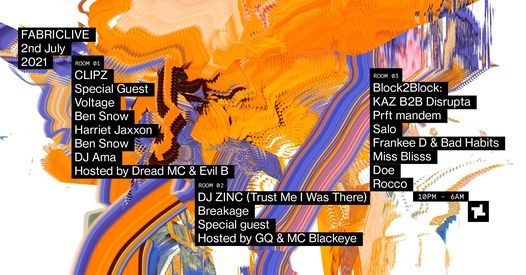 FABRICLIVE: Clipz, Voltage, Zinc, Breakage & More, 2 July   Event in London   AllEvents.in
