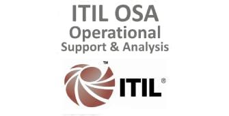 ITIL  Operational Support And Analysis (OSA) 4 Days Training in Los Angeles CA
