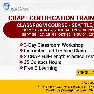 CBAP- (Certified Business Analysis Professional) Certification Training Course in Seattle WAUSA.