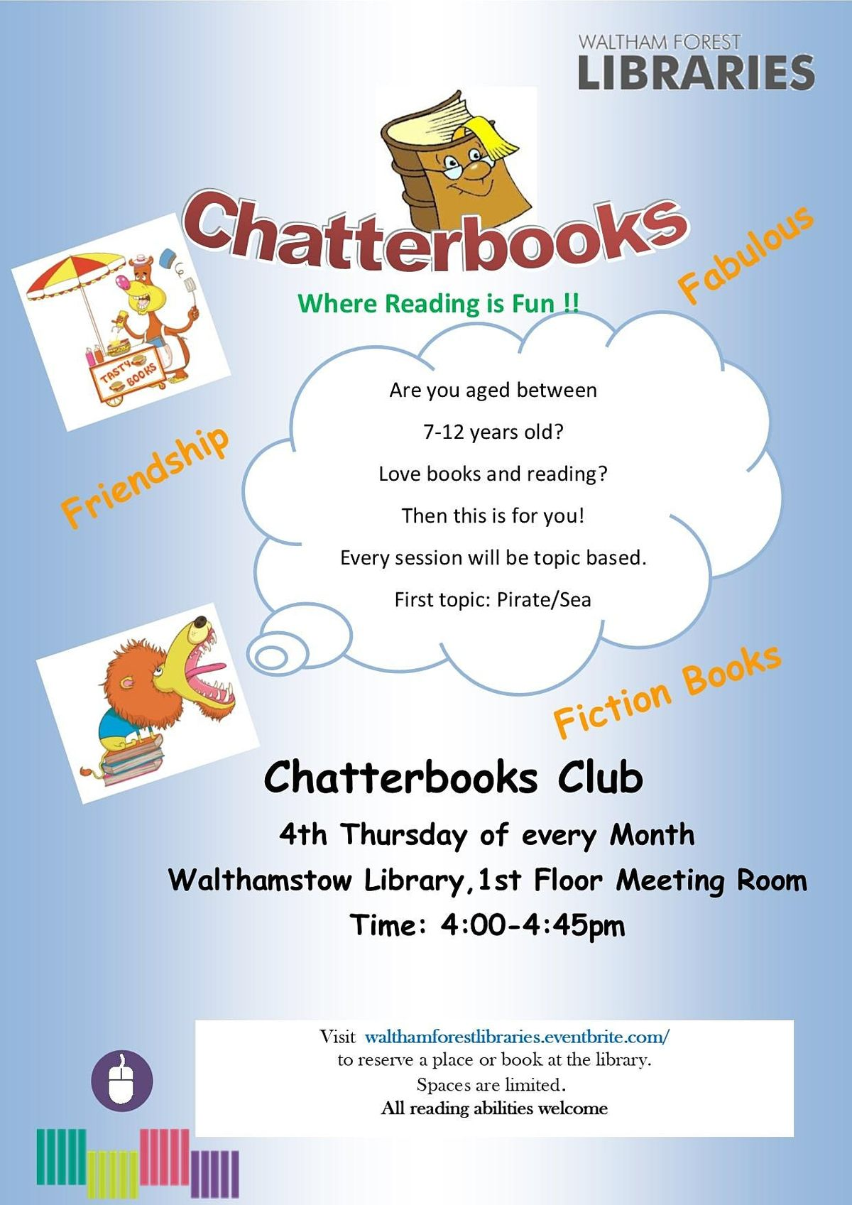 Chatterbooks Reading Group at Walthamstow Library | Event in London | AllEvents.in