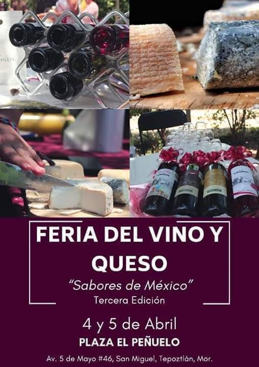 Feria Del Vino Y Queso Tepoztlán Morelos, 3ra Edición., 27 March | Event in Tepoztlan | AllEvents.in