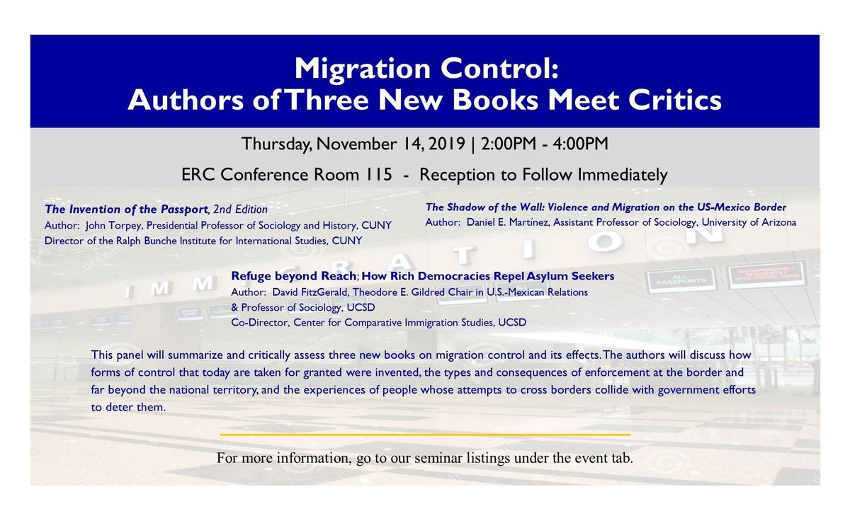Migration Control Authors of Three New Books Meet Critics
