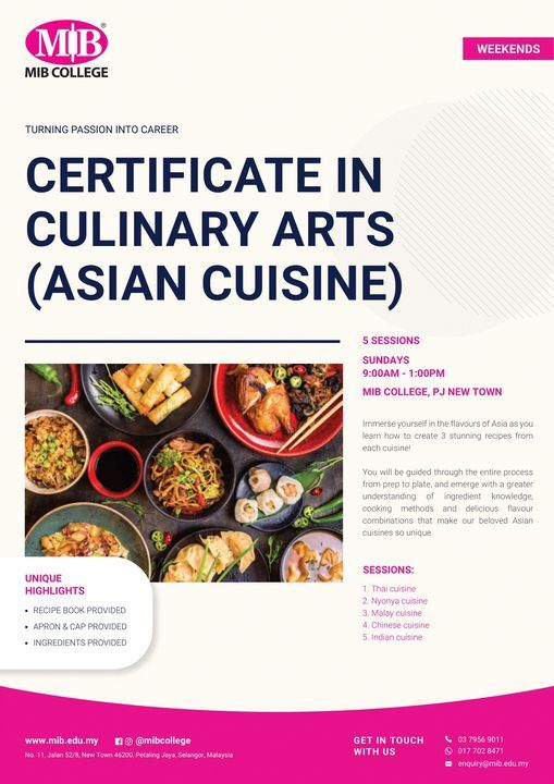 Culinary Arts (Asian Cuisine), 13 June   Event in Subang Jaya   AllEvents.in