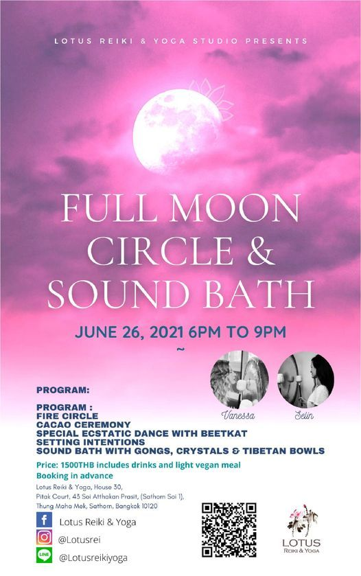 FULL MOON CIRCLE & SOUND BATH | Event in Bangkok | AllEvents.in