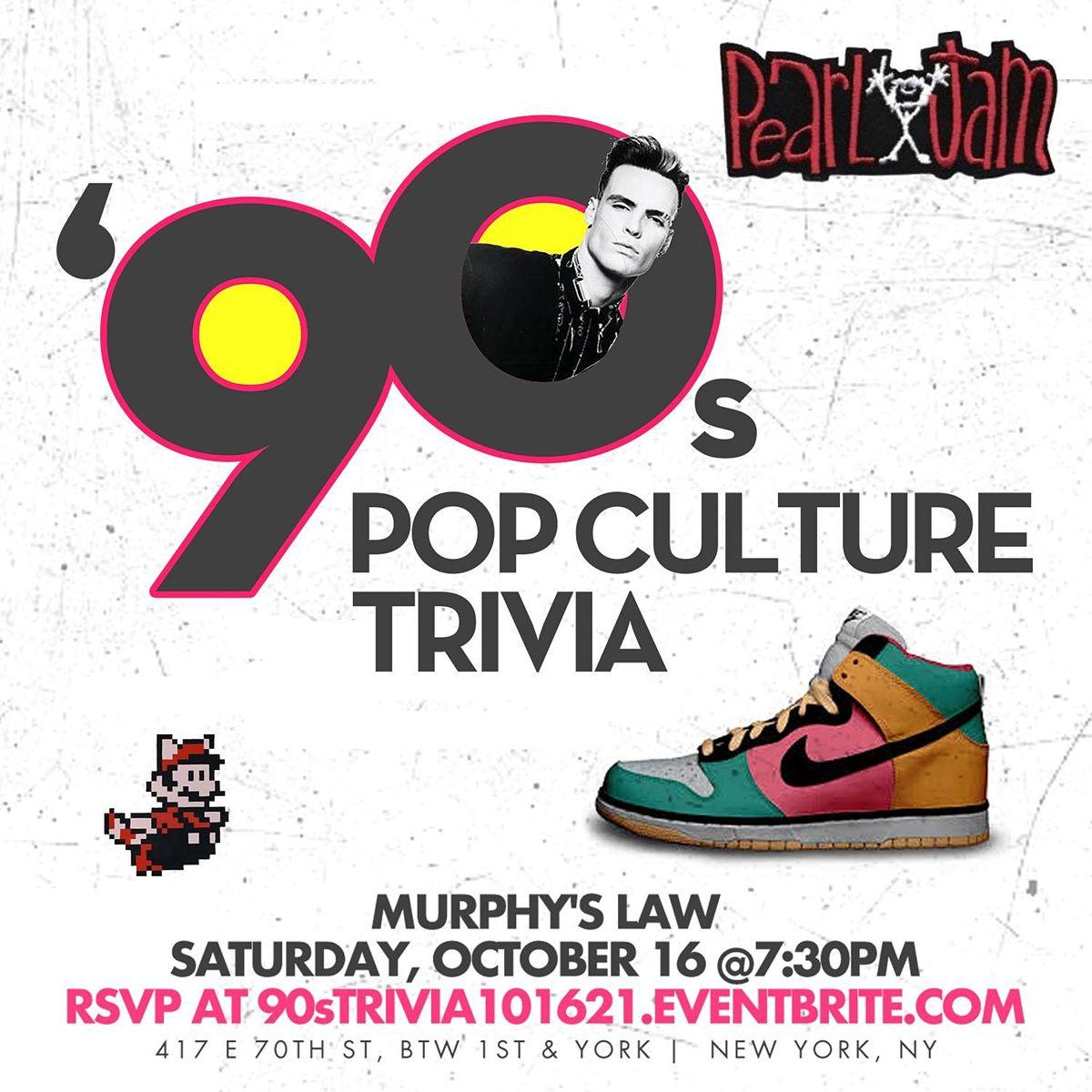 90s Pop Culture Trivia, 16 October | Event in New York | AllEvents.in