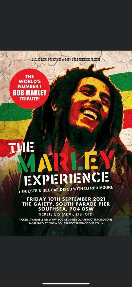 The Marley Experience..The Accelerators...DJ Rob Moore, 10 September | Event in Fareham | AllEvents.in