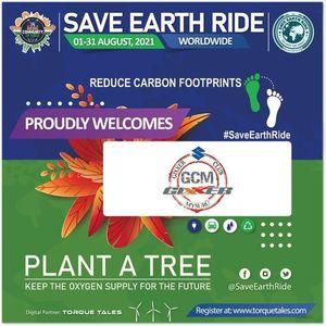 Save Earth Ride Tree Plantation Drive