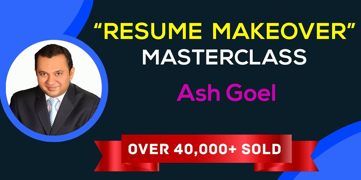 The Resume Makeover Masterclass  — Bangalore    Event in Bangalore   AllEvents.in