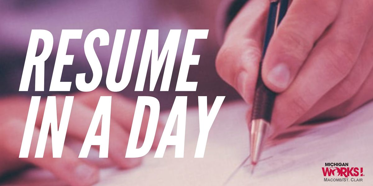Resume in a Day | Event in Port Huron | AllEvents.in