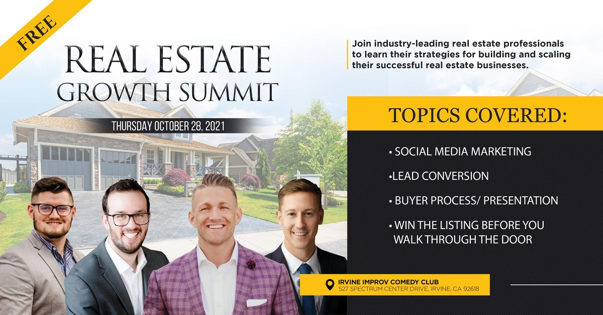 Real Estate Growth Summit, 28 October | Event in Irvine | AllEvents.in