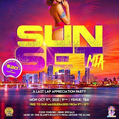 Sunset Mia 2021 A Last Lap Appreciation  Party