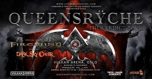 F billetter  Queensrche  Vulkan Arena  Pres. av Live Wire