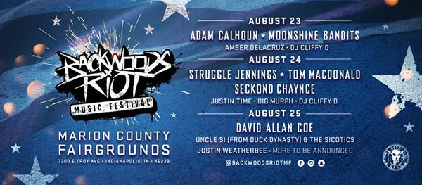 Backwoods Riot - Indianapolis Aug 23 to 25