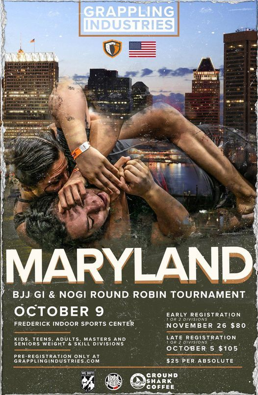 Grappling Industries Maryland, 9 October | Event in Frederick | AllEvents.in