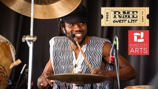 Guest List Series: Paa Kow - Presented by RME & Quad City Arts, 1 July   Event in Davenport   AllEvents.in