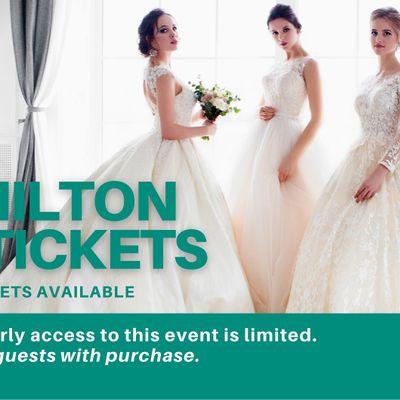 Hamilton Pop Up Wedding Dress Sale VIP Early Access