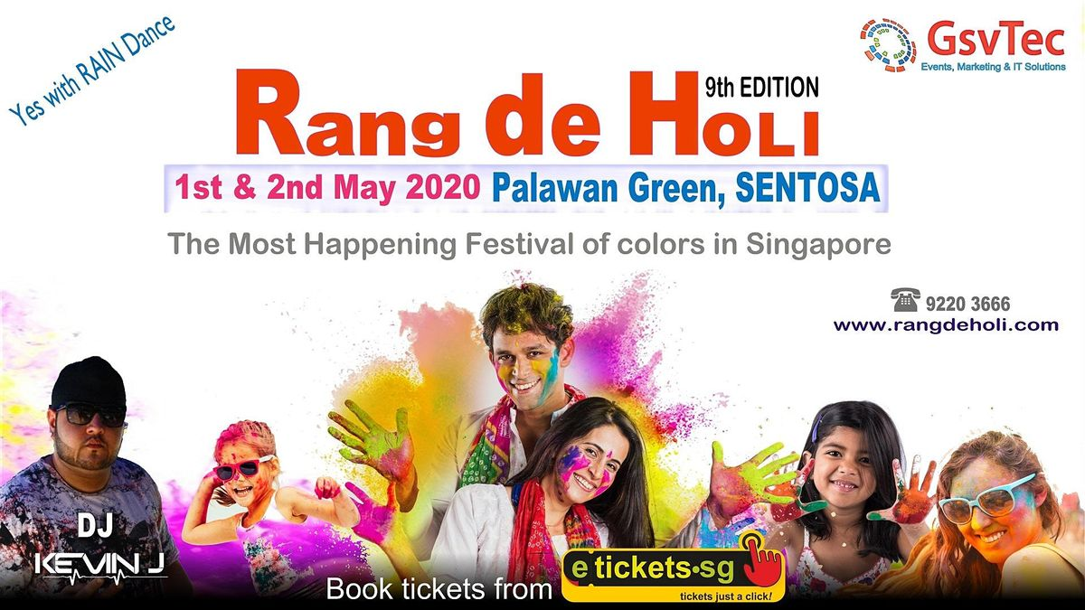 Rang De Holi 2022, 19 March | Event in Singapore | AllEvents.in