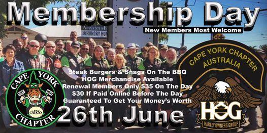 Membership Day, 26 June | Event in Manunda | AllEvents.in