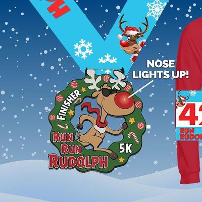 2020 Run Run Rudolph Virtual 5k Run Walk - Newark