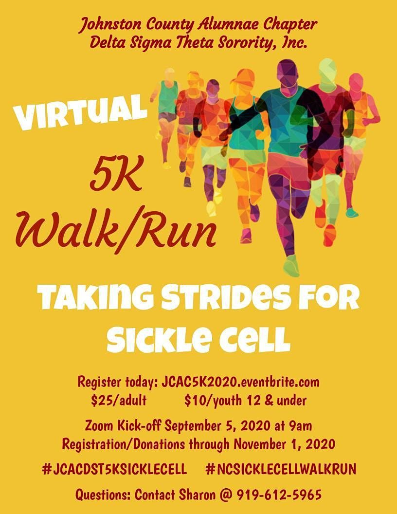 Johnston County Alumnae Chapter Virtual 5K Run/Walk Strides For Sickle Cell | Online Event | AllEvents.in