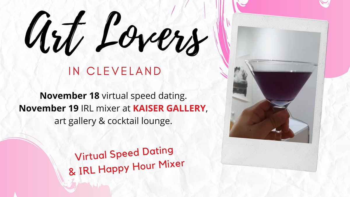 Art Lovers in Cleveland -  Hybrid Speed Dating Event, 18 November | Event in Cleveland | AllEvents.in
