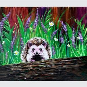 Little Hedgehog - Paint Night on Zoom