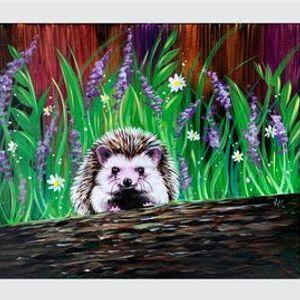 Little Hedgehog - Paint Night on Zoom