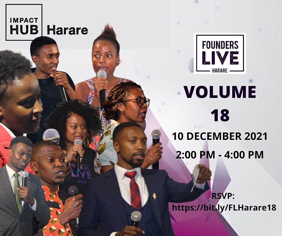 Founders Live Harare Volume 18, 19 November | Online Event | AllEvents.in