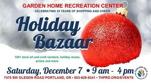 Portland Christmas Bazaar 2019.2019 Holiday Bazaar At Thprd Garden Home Recreation Center