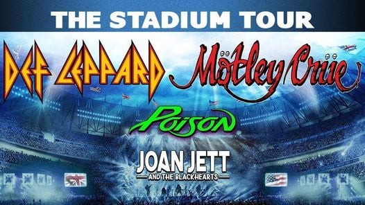 Motley Crue, Def Leppard, Poison & Joan Jett and The Blackhearts, 7 September | Event in San Francisco