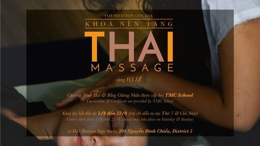 THAI MASSAGE - FOUNDATION 1, 1 August   Event in Svay Rieng   AllEvents.in
