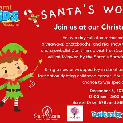 Santas Workshop with Miami Kids Magazine