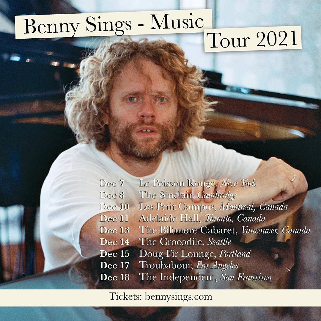 Benny Sings, 7 December   Event in New York   AllEvents.in