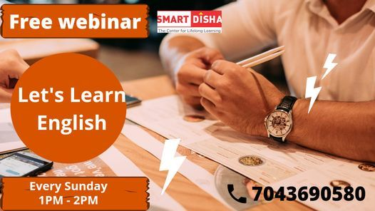 "Free webinar on ""Let's Learn English"" 